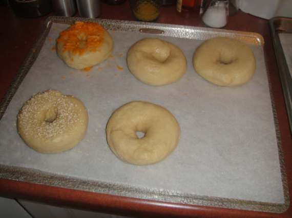 Bagels get their toppings